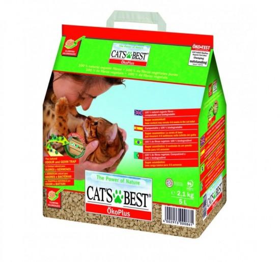 Lecho vegetal para gatos Cats Best 10L