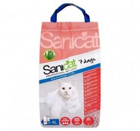 Arena para gatos Sanicat Aloe Vera 7 Dias