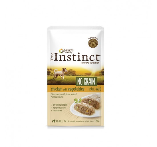 TRUE INSTINCT No Grain Pollo y Verduras 150grs